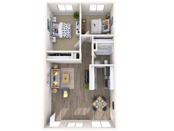 Floor Plan  2x1- Floorplan Melrose