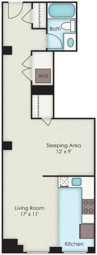 Floor Plan  First National Apartments - Chrysler Plan