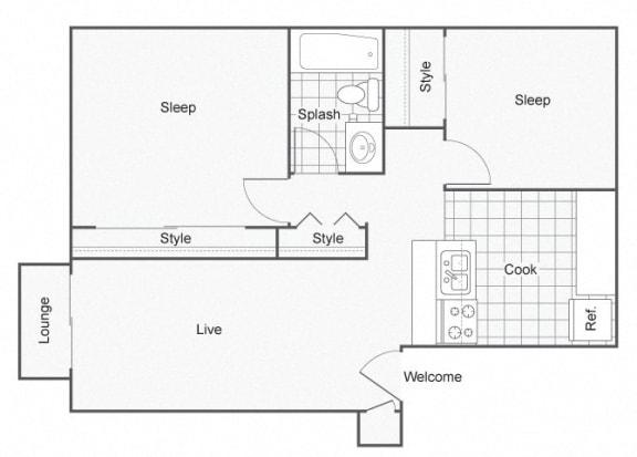 Floor Plan  Constellation Apartments Dorado Floor Plan