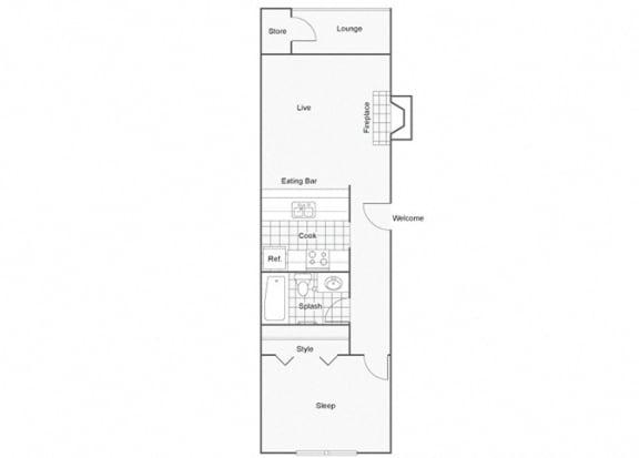 Floor Plan  Constellation Apartments Vela Floor Plan