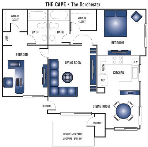 Floor Plan  The Dorchester