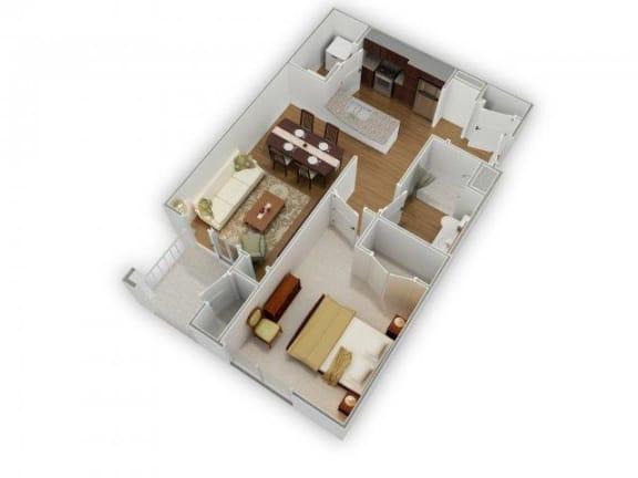 Floor Plan  The Trent A-2 Floorplan at Phillips Mallard Creek Apartments, 28262
