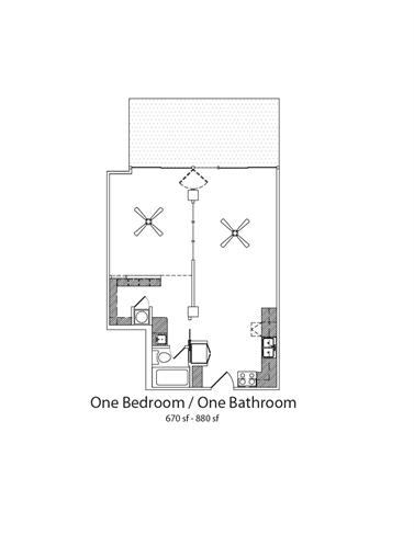 Floor Plan  1Bed1Bath