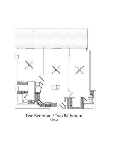 Floor Plan  2Bed2Bath