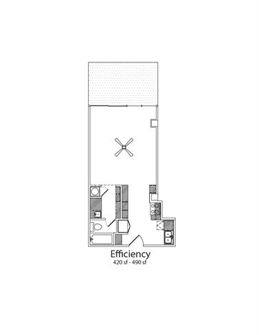 Floor Plan  Eff1Bath