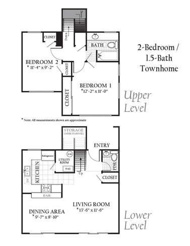 Floor Plan  2Bed1Bath