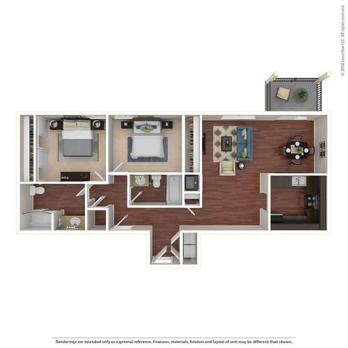 Floor Plan  2BR/2BA F 2 Bed 2 Bath Floor Plan at Crooked Oak at Loma Verde Preserve, California, 94949