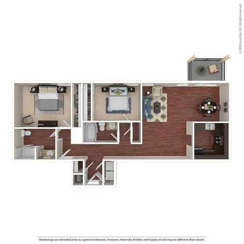 Floor Plan  2BR/2BA G 2 Bed 2 Bath Floor Plan at Crooked Oak at Loma Verde Preserve, Novato, CA, 94949