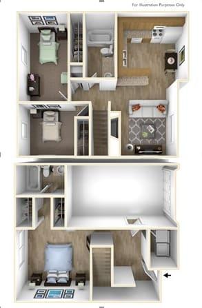 Floor Plan  Springfield, OR Brentwood Estates 3 bedrooms 2 baths
