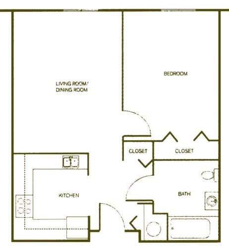 Floor Plan  One-Bedroom