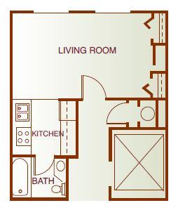 Floor Plan  Studio (Elevator Buildling)