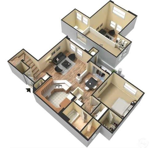 Floor Plan  One Bedroom Floor Plan l Lesarra Apartment in El Dorado Hills Ca