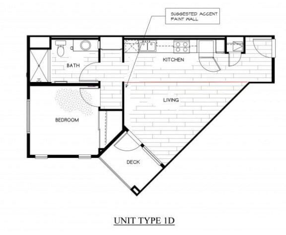 Floor Plan  OLIVERA SENIOR APTS | Floor Plan 1x1