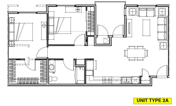 Floor Plan  OLIVERA SENIOR APTS   Floor Plan 2x2