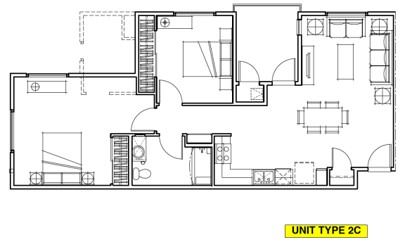 Floor Plan  OLIVERA SENIOR APTS | Floor Plan 2x2
