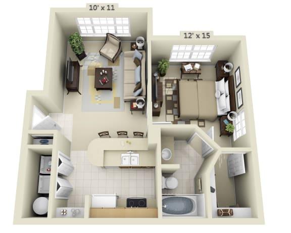 Floor Plan  1 Bedroom Flat
