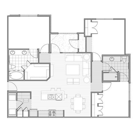 Floor Plan  Floor plan at Faudree Ranch, 2741 Faudree Road, Odessa
