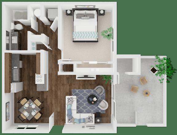 Floor Plan  Oak Park | Turlock| Apartments | Floorplan