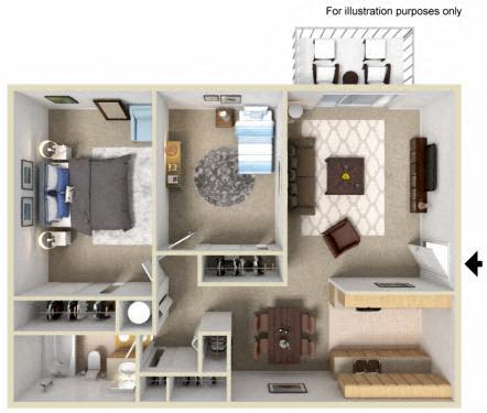 Floor Plan  Westwood Village | Apartments | Floorplan | Birch