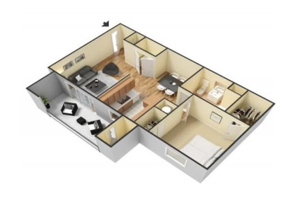 Floor Plan  The Cortez floor plan. l Canyon Vista Apartments in Sparks NV