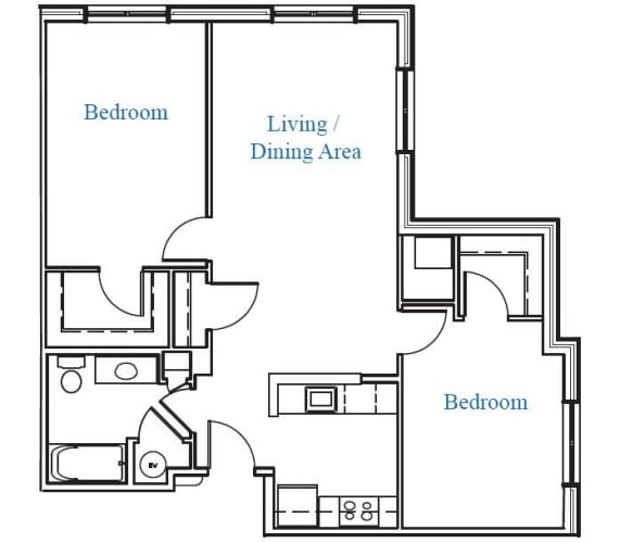 Floor Plan  Two Bedroom- 2.1A