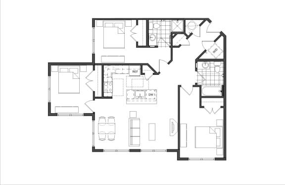 Floor Plan  Three-Bedroom (3A)
