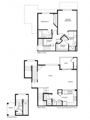 Floor Plan  Evans Creek at Woodbridge Redmond, WA 2 bedroom 2 bath