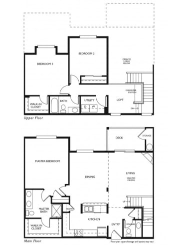 Floor Plan  THE SAHALEEEvans Creek at Woodbridge Redmond, WA 3 bedroom 2 bath