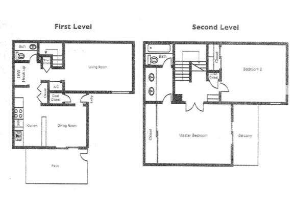 Floor Plan  The Claremont_Claremont CA_Floor Plan_Morning Glory_2 Bedroom 2 Bathroom