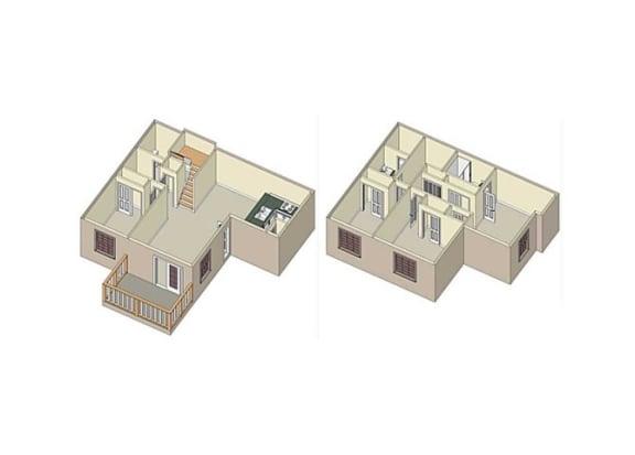 Floor Plan  The Claremont_Claremont CA_Floor Plan_Poppy_4 Bedroom 2 Bathroom