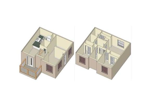 Floor Plan  The Claremont_Claremont CA_Floor Plan_Wildflower_2 Bedroom 2 Bathroom