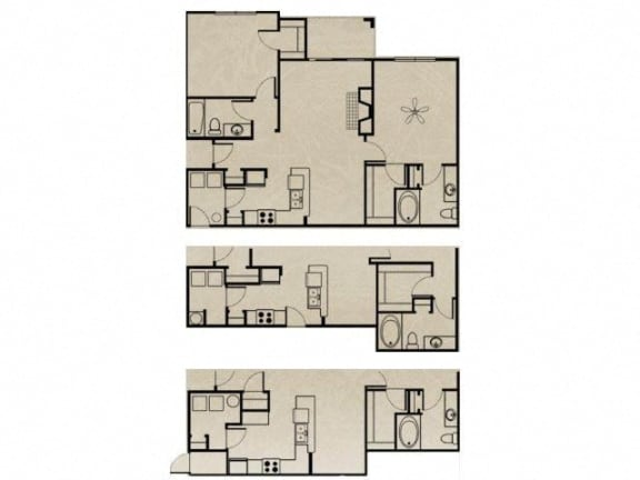 Floor Plan  2 Bedroom, 2 Bath 1124 sqft