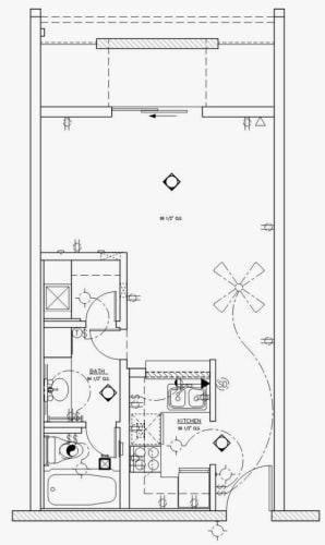 Floor Plan  GC Square Apartments Studio Floor Plan