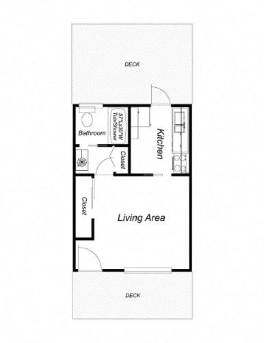 Floor Plan  Studio - Downstairs