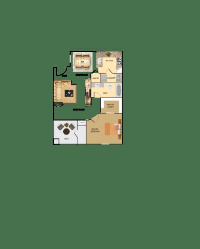 Renovated 1 2 And 3 Bedroom Floor Plans Of Borgata Condominiums In Las Vegas Nv