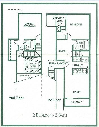 Floor Plan  2-BedRoom Floor Plan