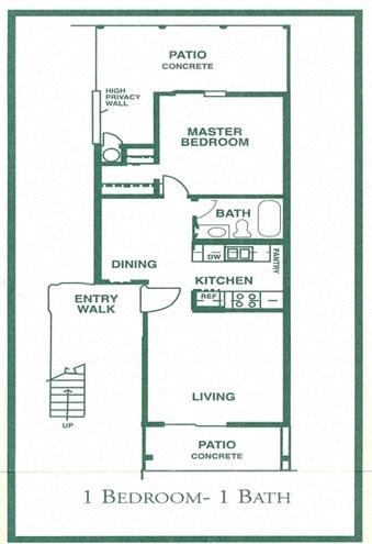 Floor Plan  One-Bedroom Floor Plan