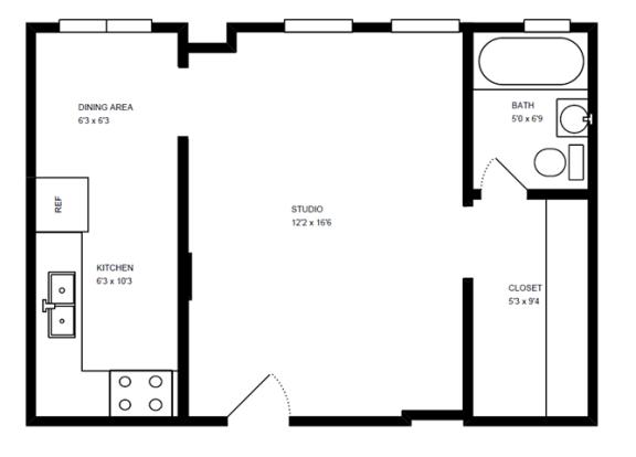 Floor Plan  Medium Studio