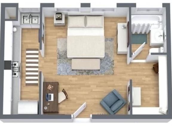 Floor Plan  SMALL STUDIO