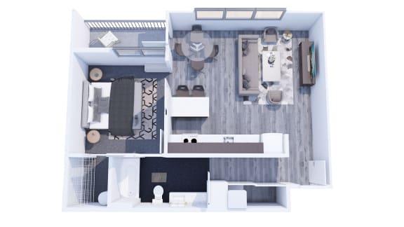 Floor Plan  Range Apartments 1x1 D Floor Plan