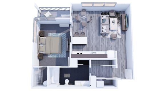 Floor Plan  Range Apartments 1x1 E Floor Plan