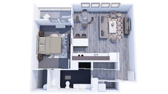Floor Plan  Range Apartments 1x1 G Floor Plan