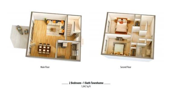 Floor Plan  2x1R Floor Plan_ Binford