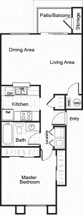 Floor Plan  Sorelle black and white 2D floor plan image A1