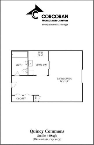 Floor Plan  Quincy Studio for Rent