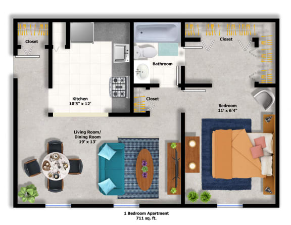 Floor Plan  1Bed