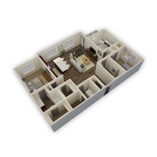 Floor Plan  Axio-Axis-1 Bed 1 Bath