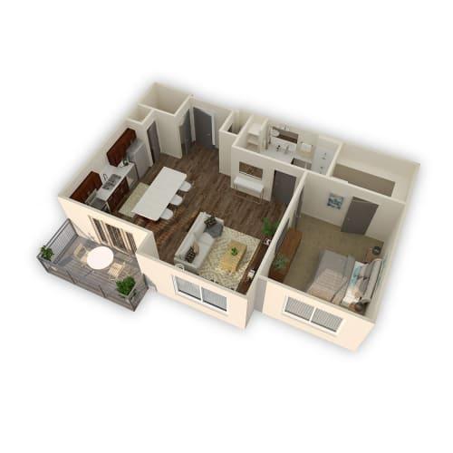 Floor Plan  Axio-Prime- 1 Bed 1 Bath