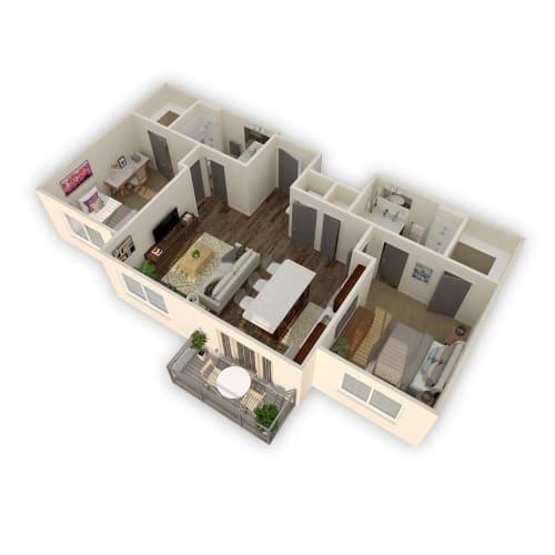 Floor Plan  Axio-Temperate- 2 Bed 2 Bath