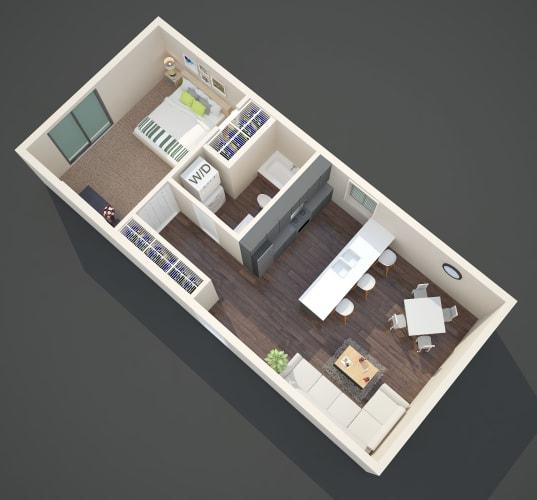 Floor Plan  Claxter Park One Bedroom One Bathroom Floor Plan
